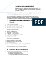 Information Management Syllabus