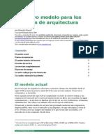Un Nuevo Modelo Del Servicio de Arquitectura