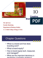 Creating Brand Equity