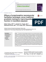 Efficacy of proprioceptive neuromuscular facilitation techniques versus traditional prosthetic training for improving ambulatory function in transtibial amputees