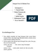 Kelompok 13 Kesetimbangan Hukum Fasa Dan Fasa