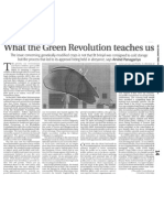 What the Green Revolution Teaches Us