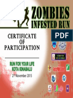 Zombies Infested Run - Certificatie of Participation 2