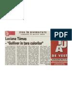 """DANIELA RATIU - LUCIANA TAMAS - """"GULLIVER IN TARA CULORILOR"""""""