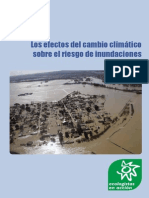 Los efectos del cambio climático sobre el riesgo de inundaciones en España