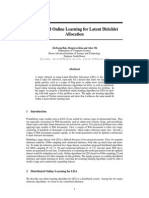 Distributed Online Learning - LDA