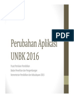 Perubahan Aplikasi UNBK 2016