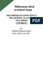 STANDARDS FOR TEACHERS' EFFICIENCY MEASURIEMENT TOOL, TEMST, By