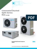Coolex Catalog Concealed Ducted Split Units R22