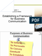 Chap 1 - Establishing a Framework for Business Communication