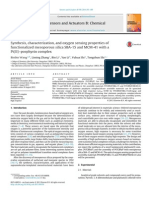 Synthesis, Characterization, And Oxygen Sensing Properties Of