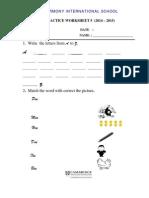 English practice worksheets