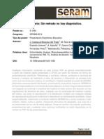 SERAM2014_S-1354_Tumor Oseo Solitario. Sin Metodo No Hay Diagnostico