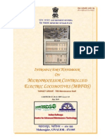 Introductory Handbook on Microprocessorcontrolled Electric Locomotives