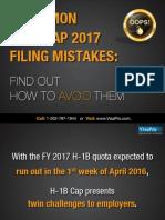 Common H1B Cap 2017 Filing Mistakes