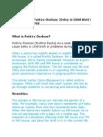 Remedies for Puthira Dosham (Delay in Child Birth) in Vedic Astrology