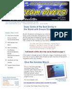 Dream Divers April 2010 Newsletter