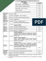 CISCE Class 10th Date Sheet