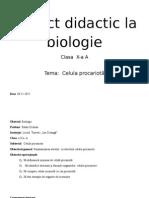 Proiect Didactic La Biologie
