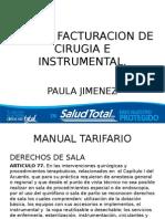 TIPS DE FACTURACION--derechos de sala, instrumental