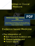 Probabilities in Clinical Medicine