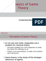 Week 10 the Basics of Game Theory