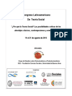 Programa - I Congreso Latinoamericano de Teoría Social