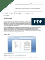 Langkah Dan Cara Membuat Paper Yang Baik Dan Benar Ragam