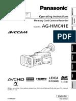 Panasonic HMC41 Manual