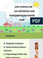7. Telaah Kurikulum Bahasa Indonesia Dan Pengembangan Bahan Ajar