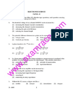 CBSE UGC NET Electronic Science Paper 2 December 2005