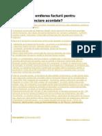 Emiterea Facturii Pentru Reduceri Financiare Acordate