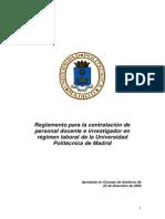 Reglamento Contratacion Personal DocenteUPM