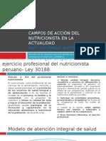 Campos de Acción Del Nutricionista en La Actualidad_ricardo Soto