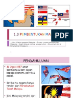 1.3 Pembentukan Malaysia