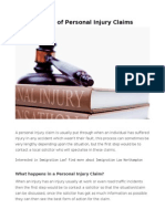 Process of Personal Injury Claims