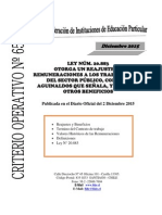 Criterio Operativo n 65 Año 2015