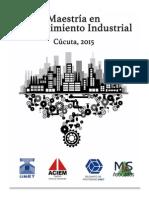 Maestria en Mantenimiento Industrial_Cucuta 2015