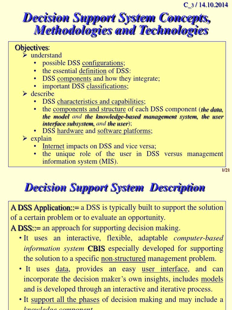 Dss_3   Decision Support System   Web Application