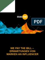 INREACH 2015 We pay the bill – Erwartungen von Marken an Blogger und Influencer –
