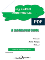 Lab Manual Computer Course for class 7 ( Based on KVS latest syllabus)