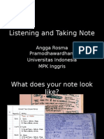 Listening and Taking Note