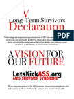 HIV LTS Declaration A Vision for Our Future