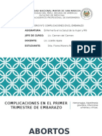 COMPLICACIONES EN EL EMBARAO PRIMER TRIMESTRE