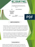 Diagnóstico de Los Agrosistemas Interrelcionados Con El Cultivo