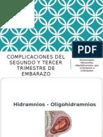 COMPLICACIONES EN EL EMBARAZO 2DO TRIMESTRE