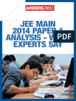 JEE Main 2014 Paper 1 Analysis – What Experts Say