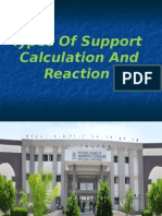 Types of Support Calculation and Reaction
