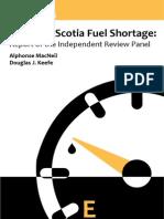 Rapport sur la pénurie d'essence en Nouvelle-Écosse (2015)