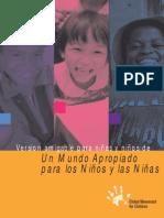 GMC - Un Mundo Apropiado Para Los Niños y Las Niñas. Versión Amigable Para Niñas y Niños
